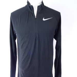 Nike Men's Dri-Fit Quarter Zip Long Sleeve Black